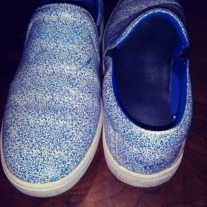 👾Creative Recreation shoes. Blue speckled leather